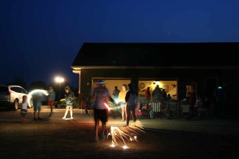It was a beautiful prairie evening for sparklers.