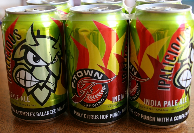 F-Town's IPA beer, Ipalicious.