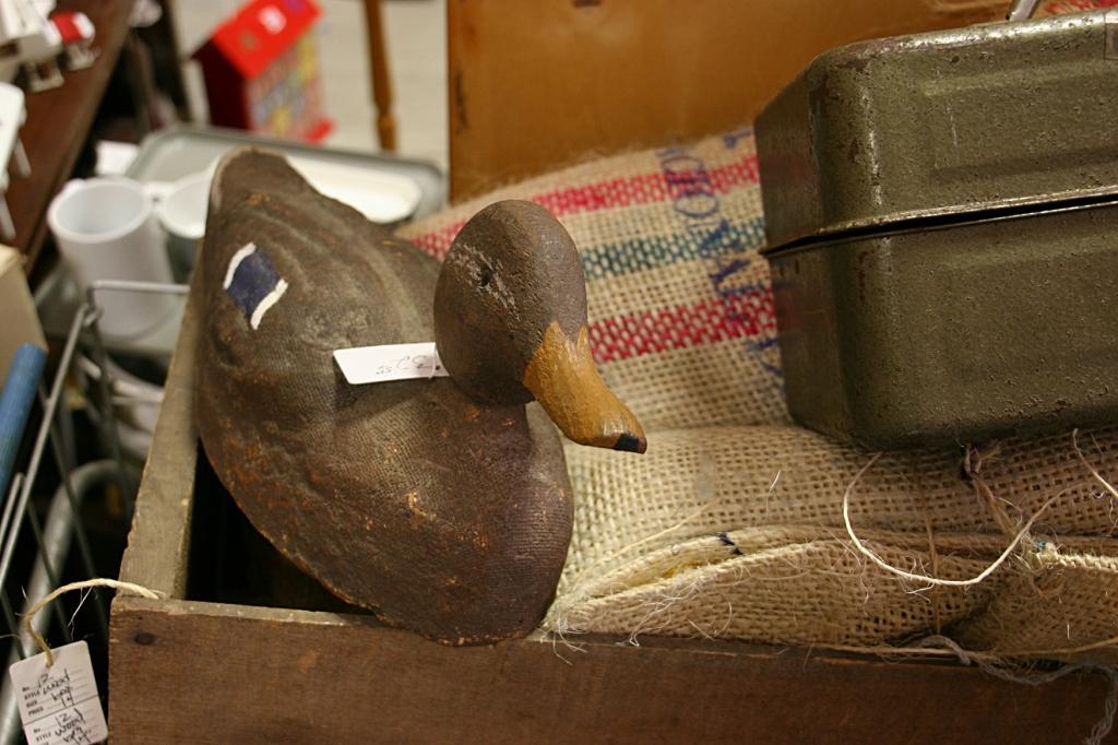 Jim's Antiques, duck decoy