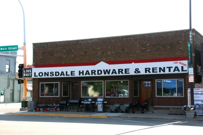 Hardware stores, like this one in downtown Lonsdale, are important businesses in many small towns.
