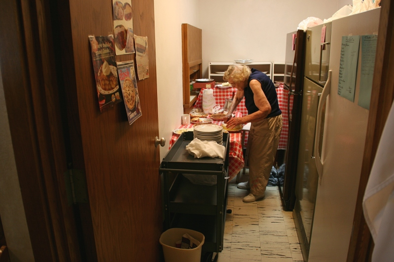 Elsie, hard at work in the Pie Room. She turns 90 in October.