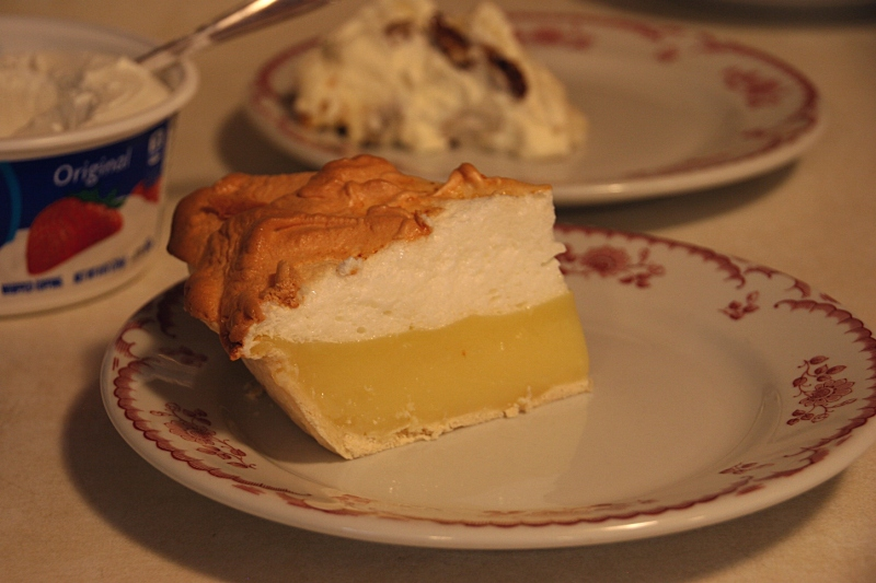 It's all about the pie at the St. John's Ice Cream Social. Just look at this lovely lemon meringue.