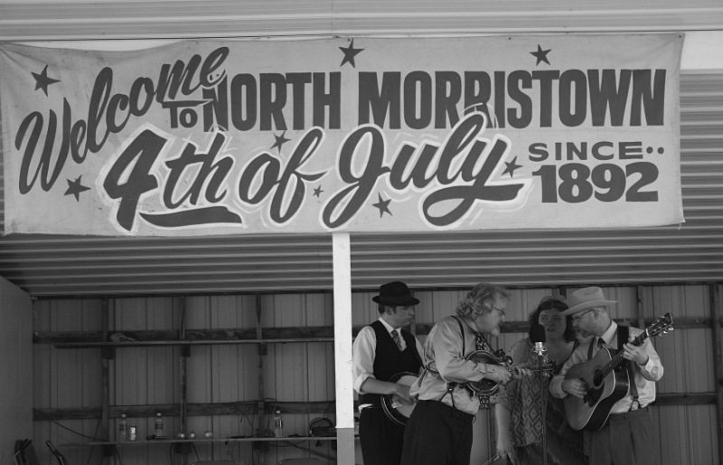 Monroe Crossing musicians photographed during a 2013 performance at North Morristown.