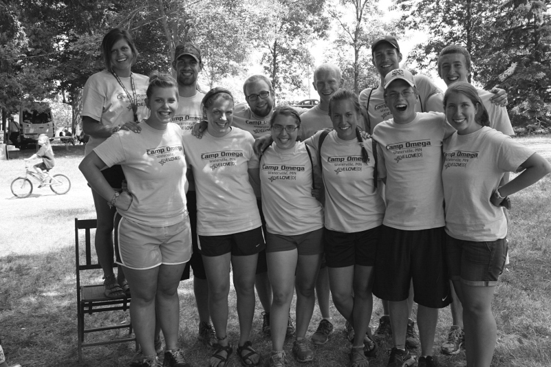 Camp Omega counselors at July Fourth North Morristown celebration. Minnesota Prairie Roots file photo 2013
