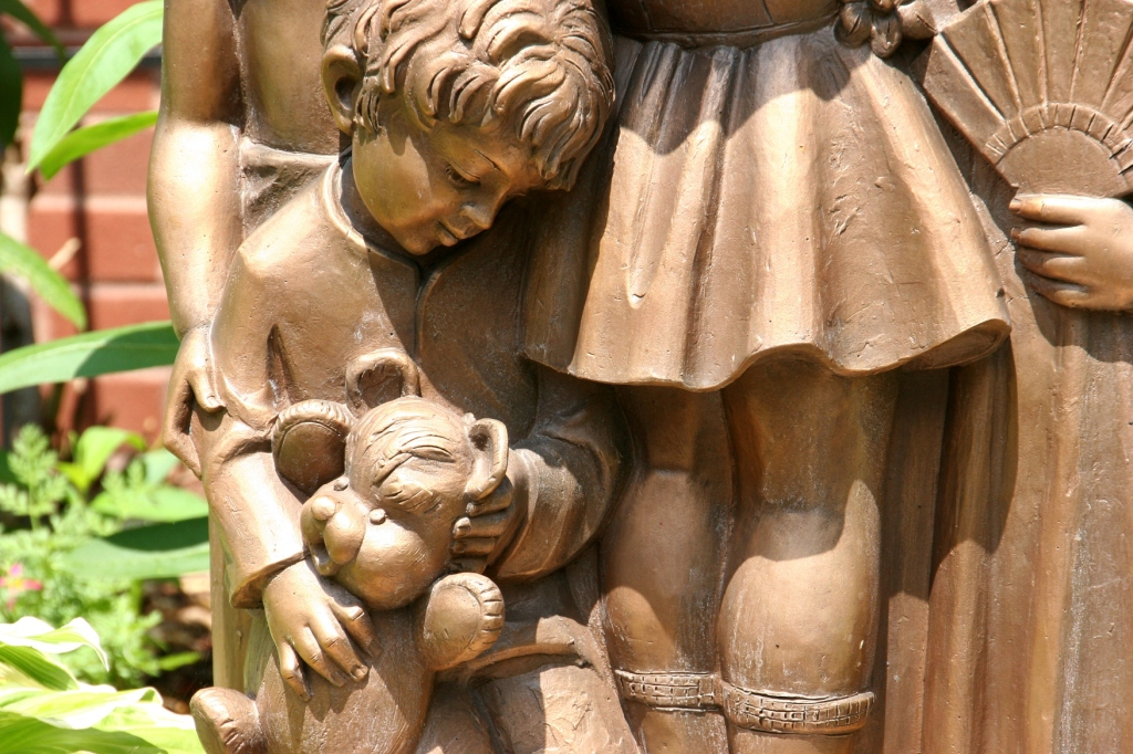 More details in the garden statue art.