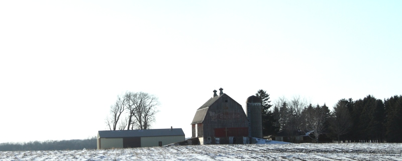How the barn looked when I photographed it in February.
