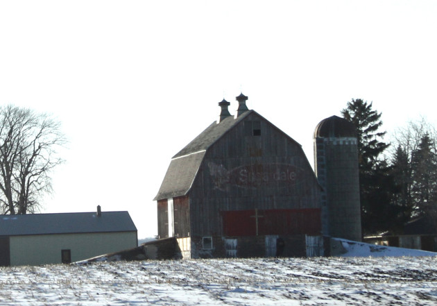 A snapshot I took of the barn last winter.
