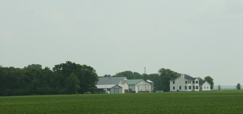 A farm site between Mankato and Nicollet.
