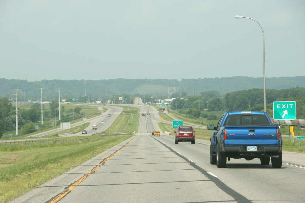 Driving on U.S. Highway 14 around Mankato traveling to southwestern Minnesota.