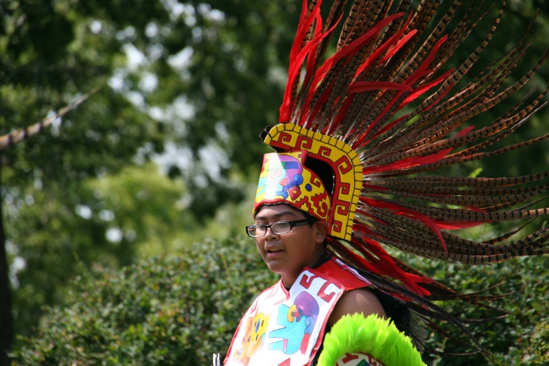 An Aztec dancer