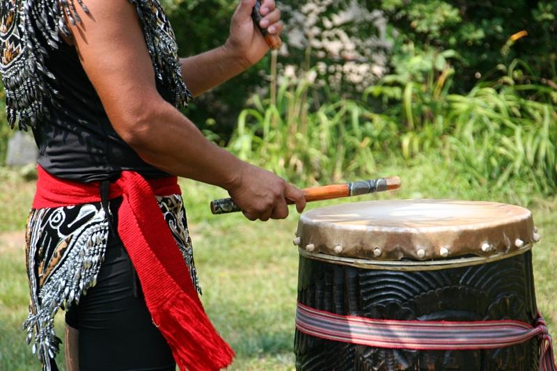 An Aztec drummer.