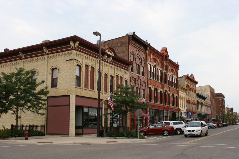 Behind several of these buildings in downtown Faribault, two gardens have been created.