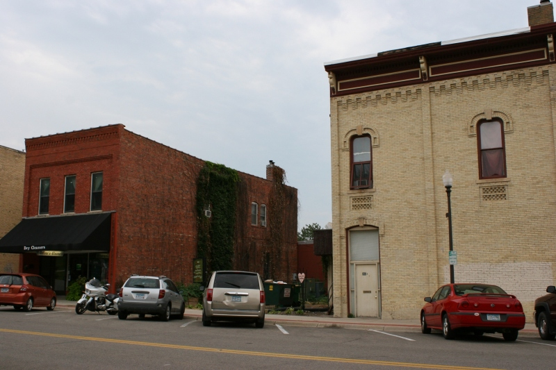 A street side view of the space now occupied by the Second Street Garden.