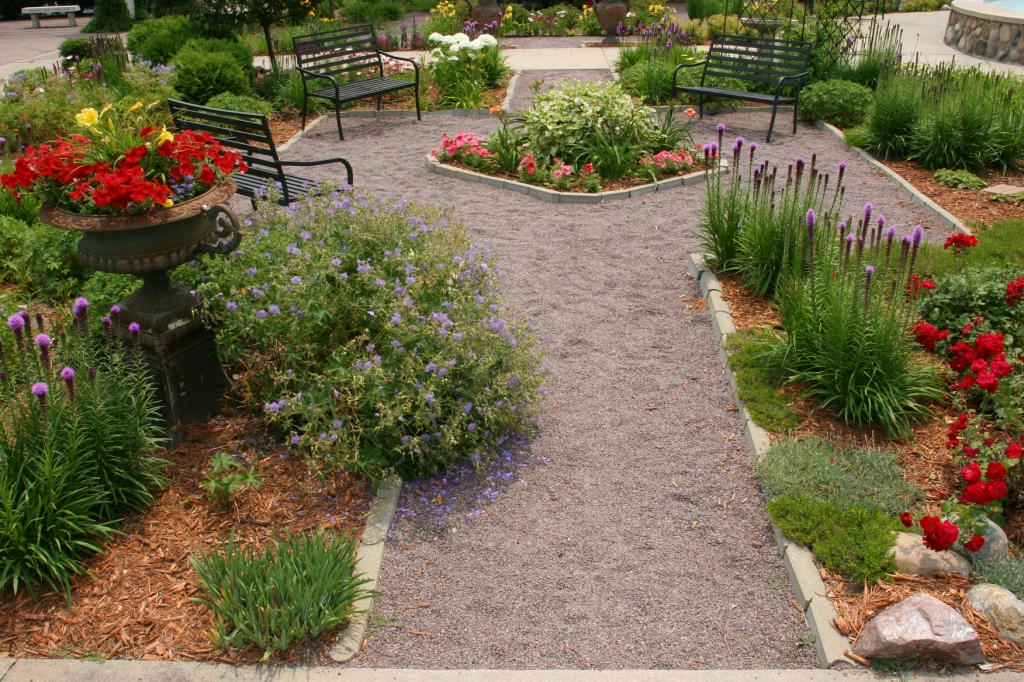 The pathways are designed to allow visitors a close-up look at the flowers.