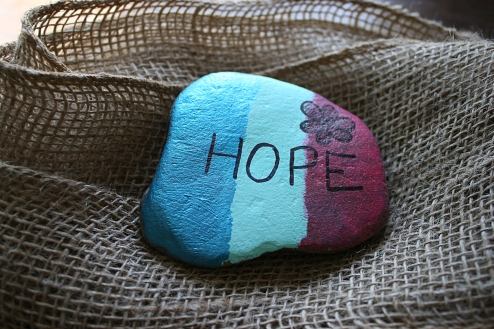 My great niece Kiera painted this stone, which I got at a recent family reunion.