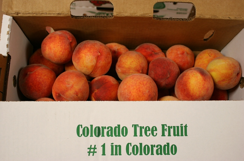 Today's peaches are packed in cardboard boxes rather than wooden crates.