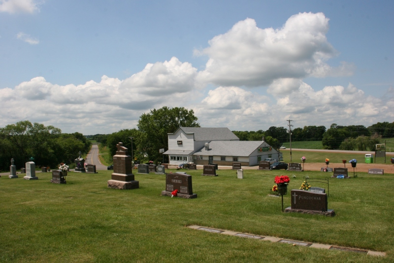 Across the road from the St. Patrick of Cedar Lake Township Catholic Church cemetery sits St. Patrick's Tavern.