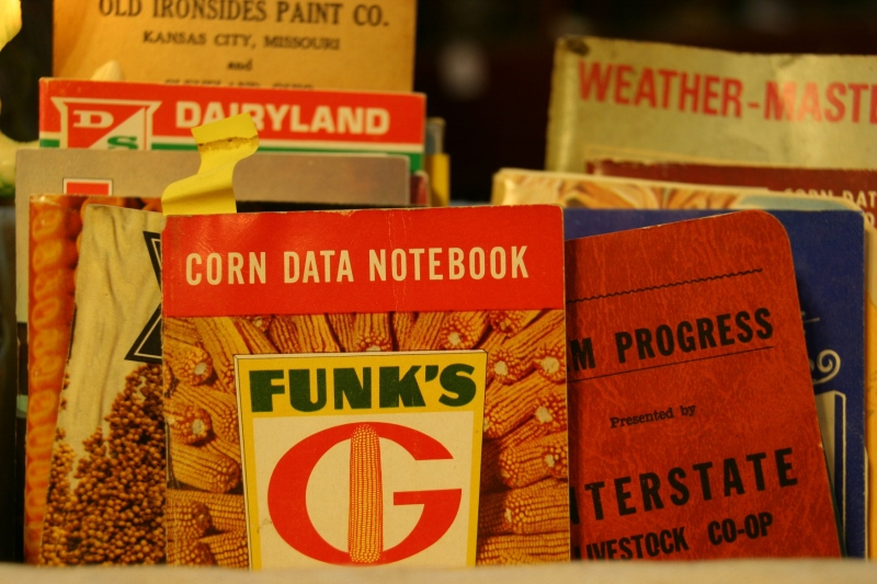 Likewise these farm notebooks reminded me of my farmer dad.