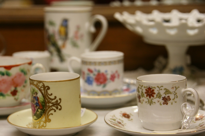 Dainty cups and saucers for the collector.