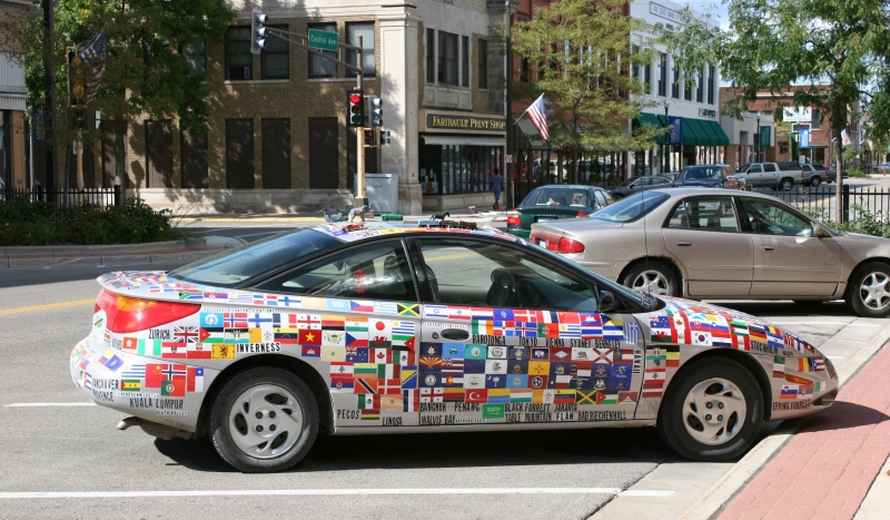 Art car, entire view of #89