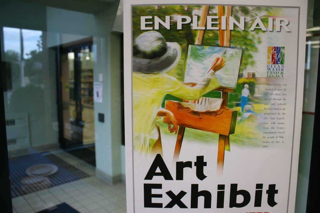 A poster posted at the initial exhibit.