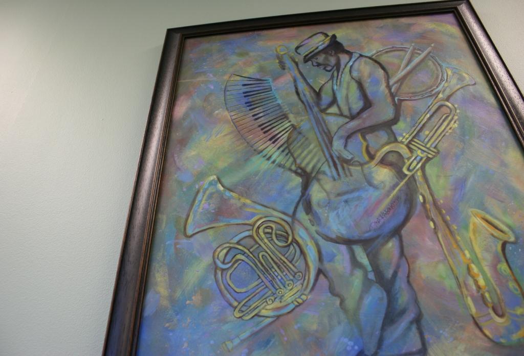 """The Music Man,"" oil on canvas by Dana Hanson"