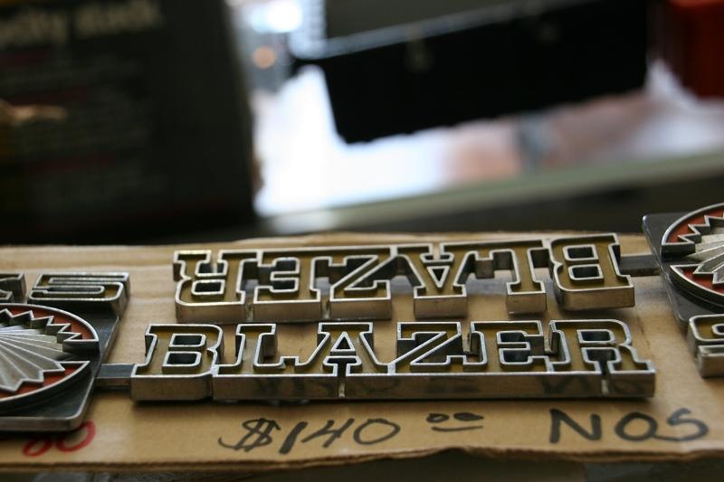 A Blazer emblem.