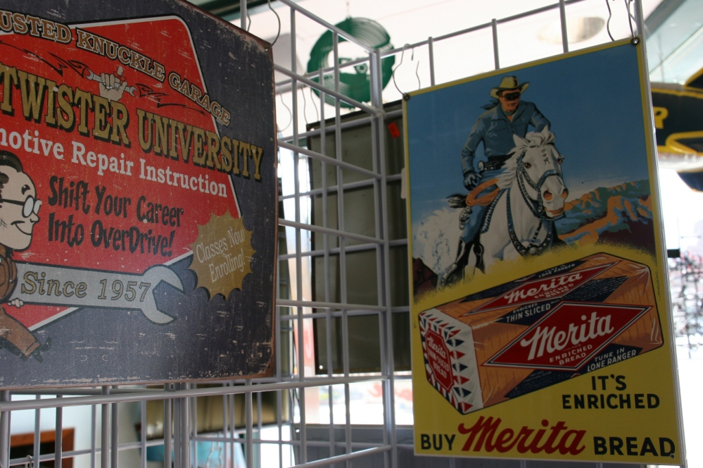 The Lone Ranger themed ad on the right is vintage original.