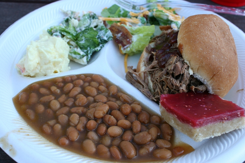 Barn dance, 131 plate of food