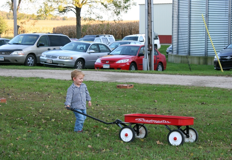 Red wagons hold timeless universal appeal to kids.