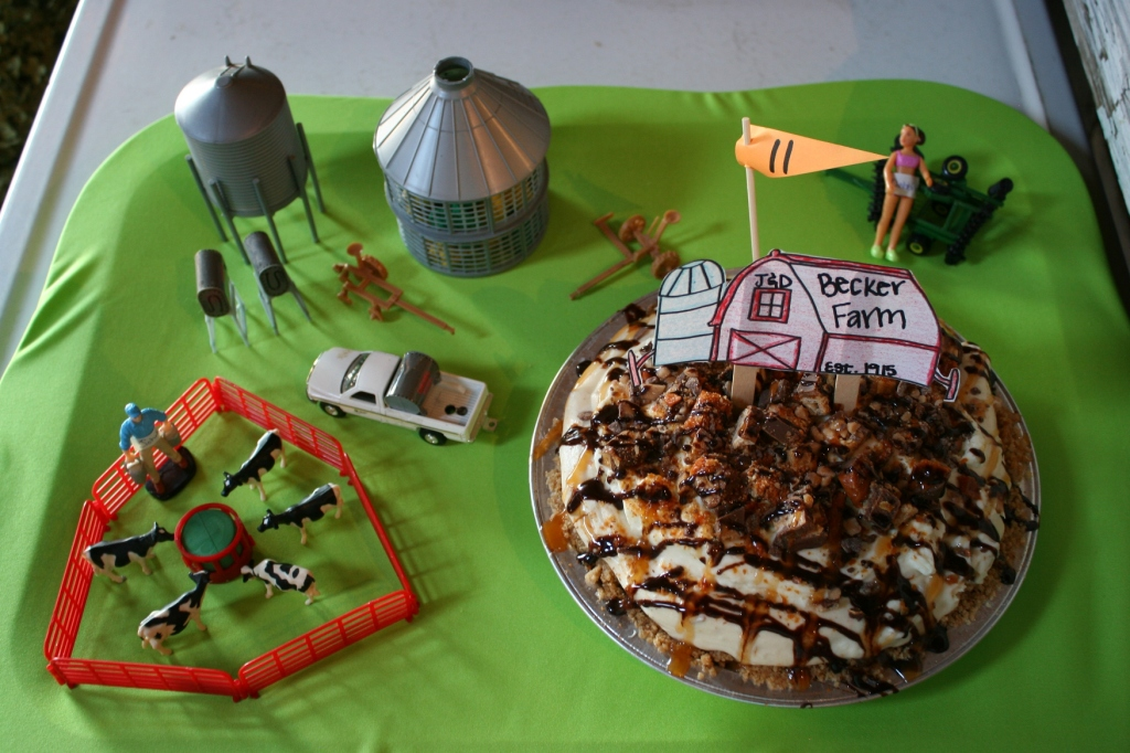 By far the most creatively-staged pie.