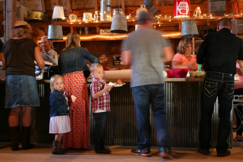 Barn dance, 148 family in food line
