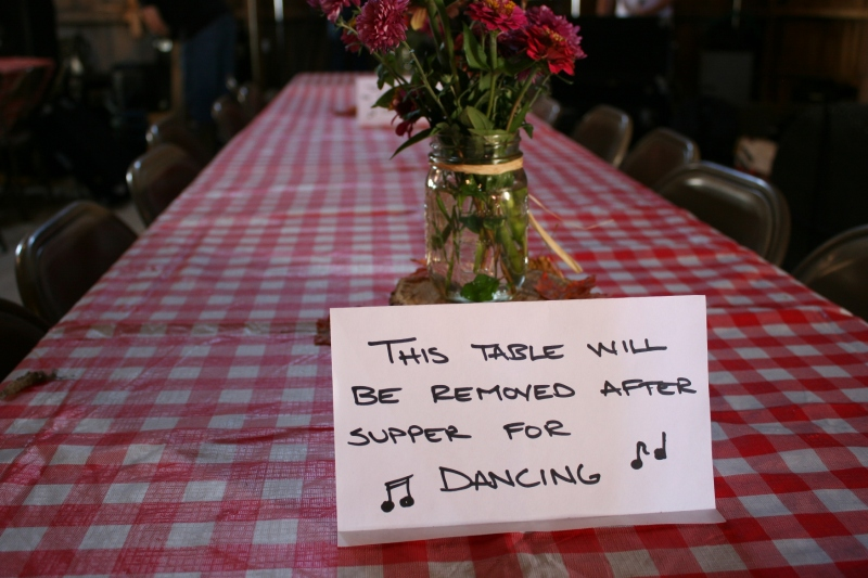 After guests ate, several tables would be removed for dancing.