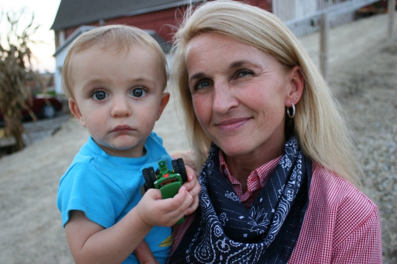 Aunt and nephew at the barn dance.
