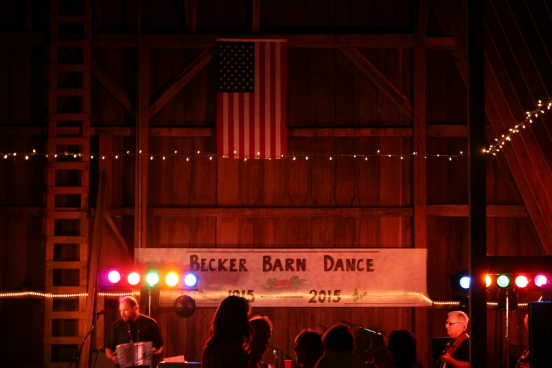Barn dance, 268 dark barn interior band area