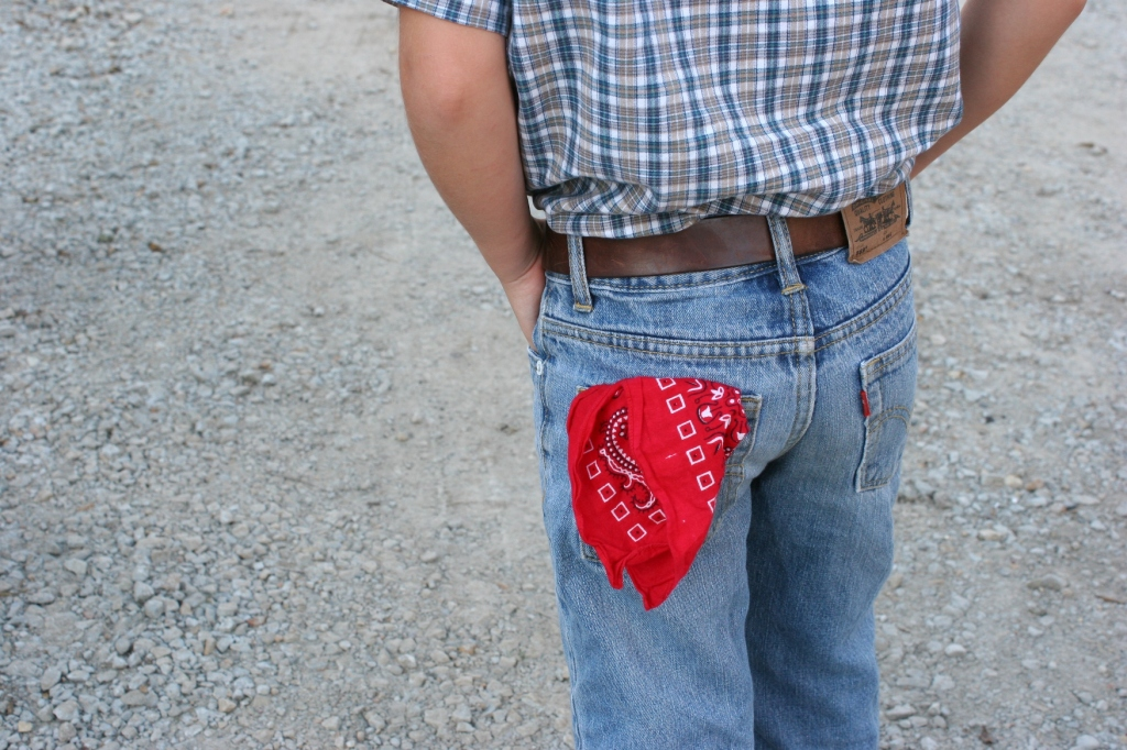 Many a farmer, including my dad, carried a hankie/bandanna in his pocket.
