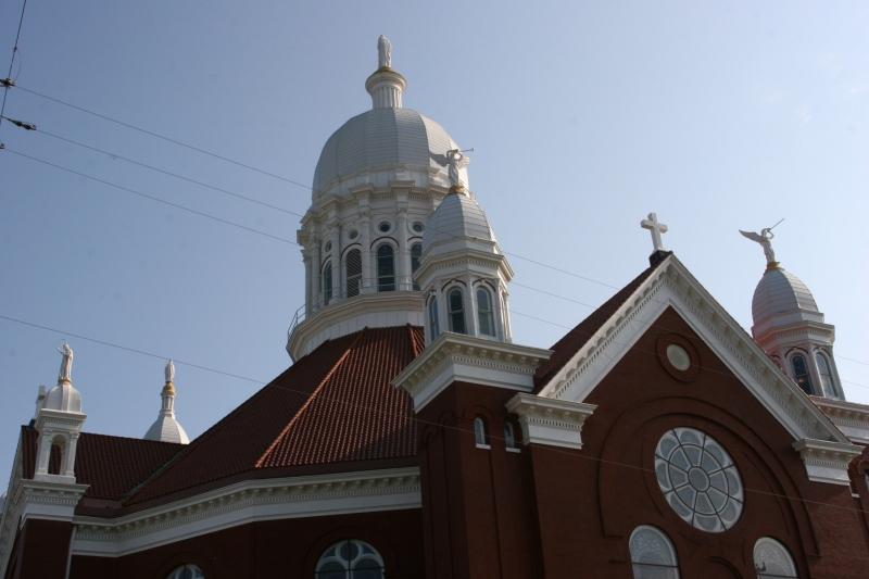 A back view of St. Stan's.