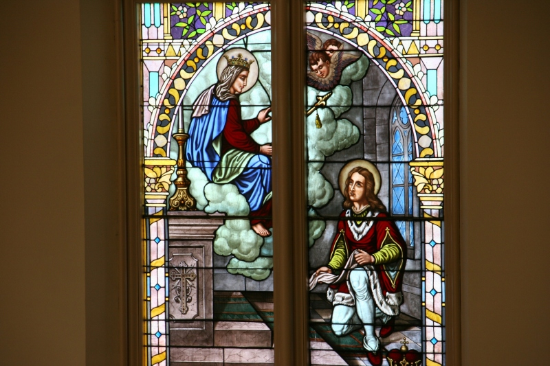 The stained glass windows are incredible in their sacred symbolism and beauty.
