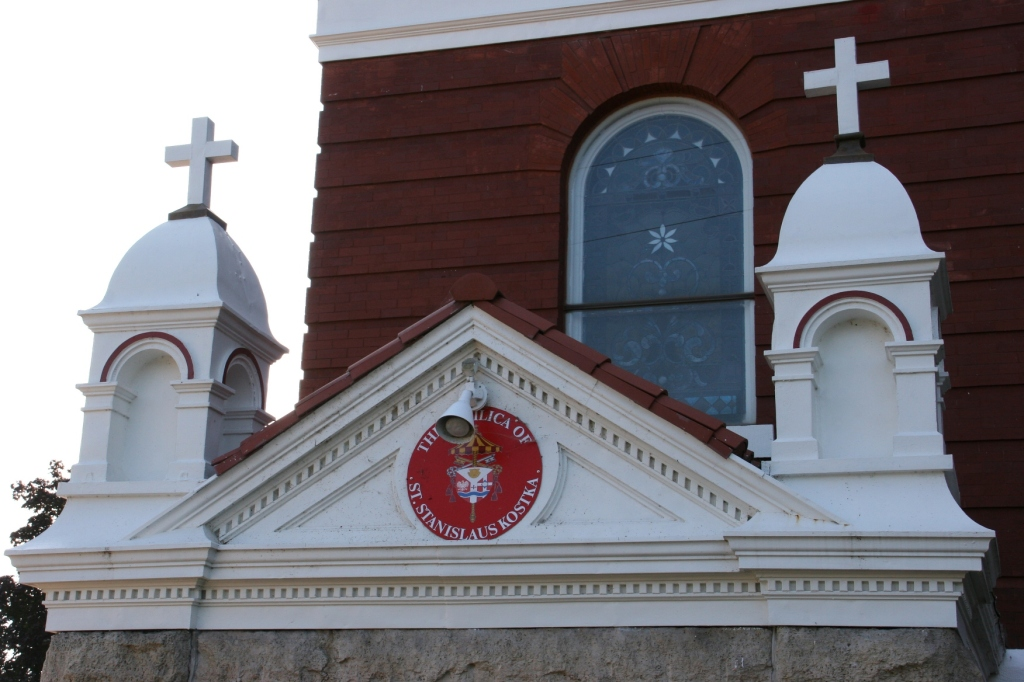 With its designation as a basilica, St. Stan's also received a crest symbolic of important events in its history. Click here to learn about the crest.