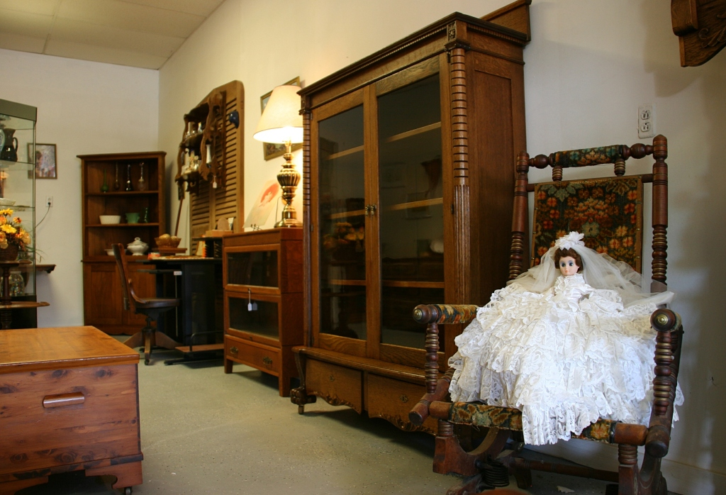 Some of the furniture in the showroom.