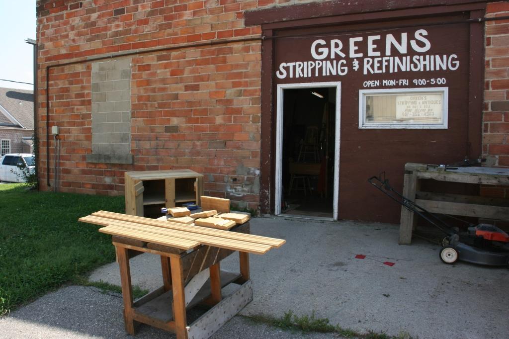 The side door into Jeff's workshop.