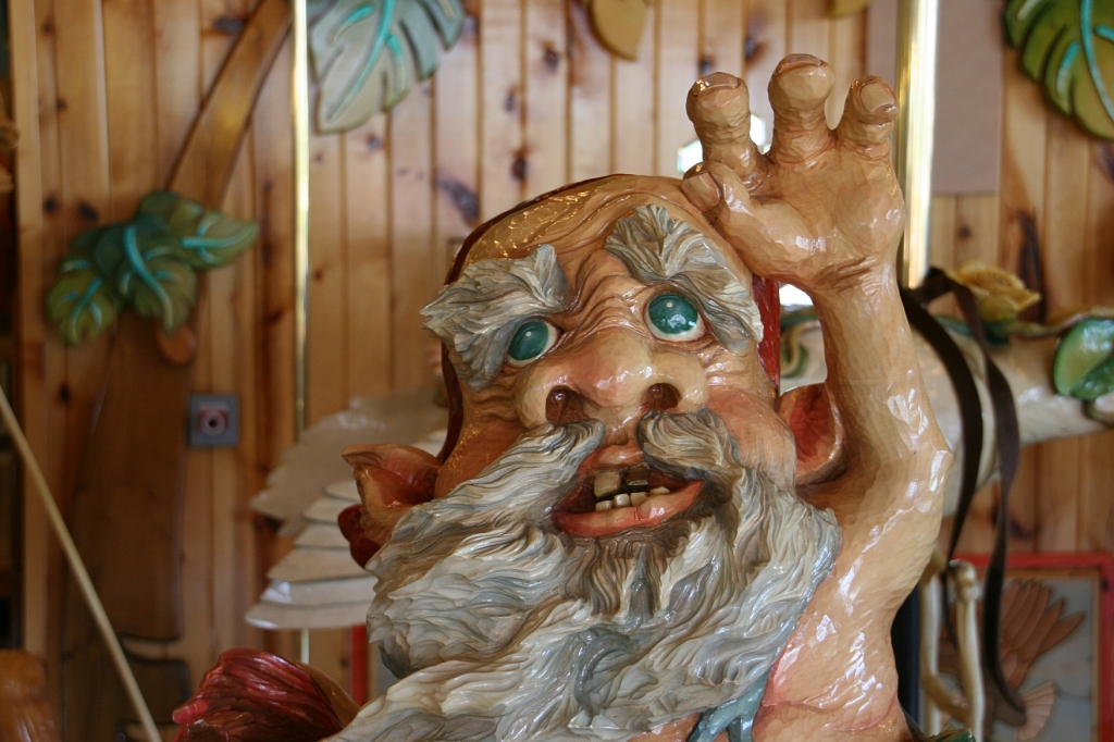 A troll (I think) on the carousel.