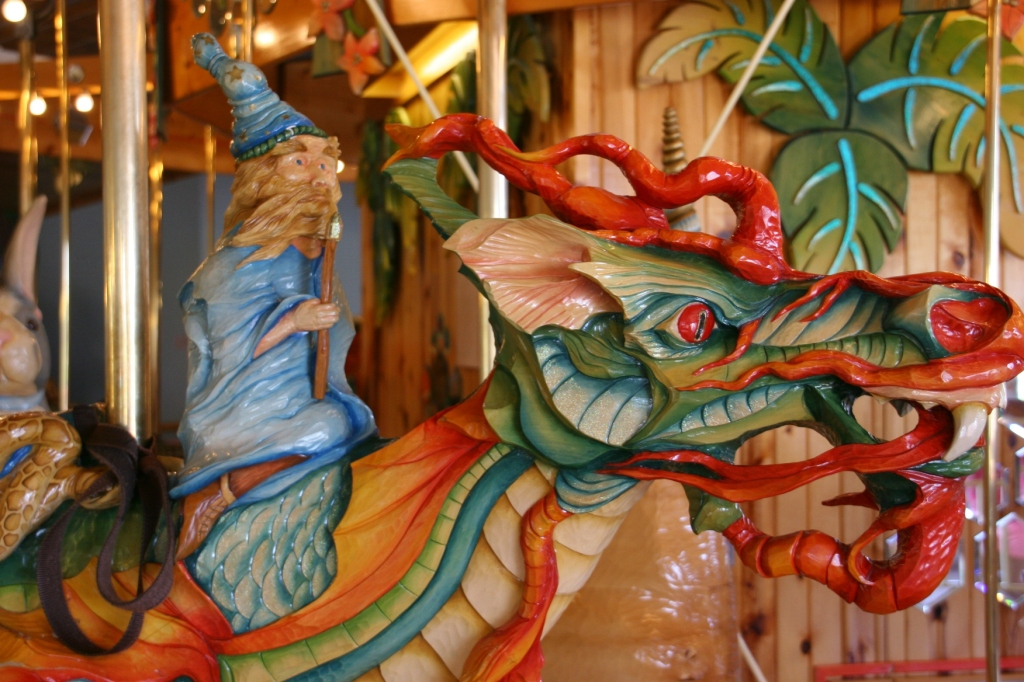 It's not just your usual horses on this merry-go-round.