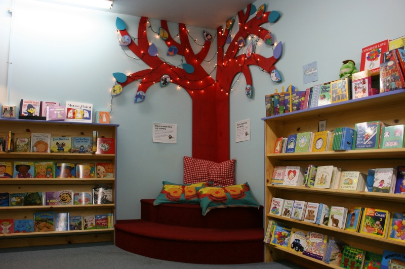 A cozy and creative corner int he bookstore.