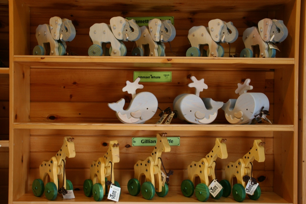 More animal pull toys handcrafted by LARK Toys artisans.