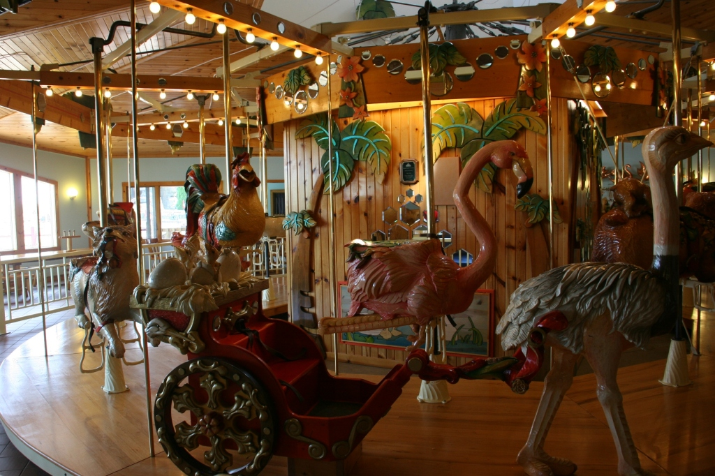 All of the creatures on the LARK carousel are handcarved.