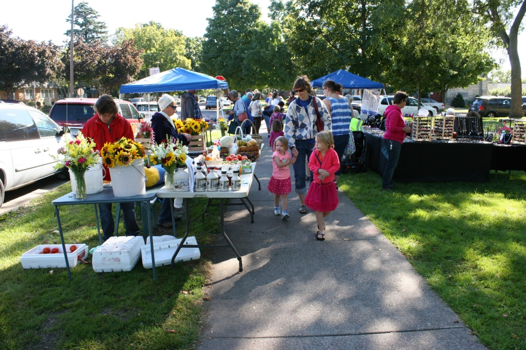 All ages flocked to the market for Family Day.