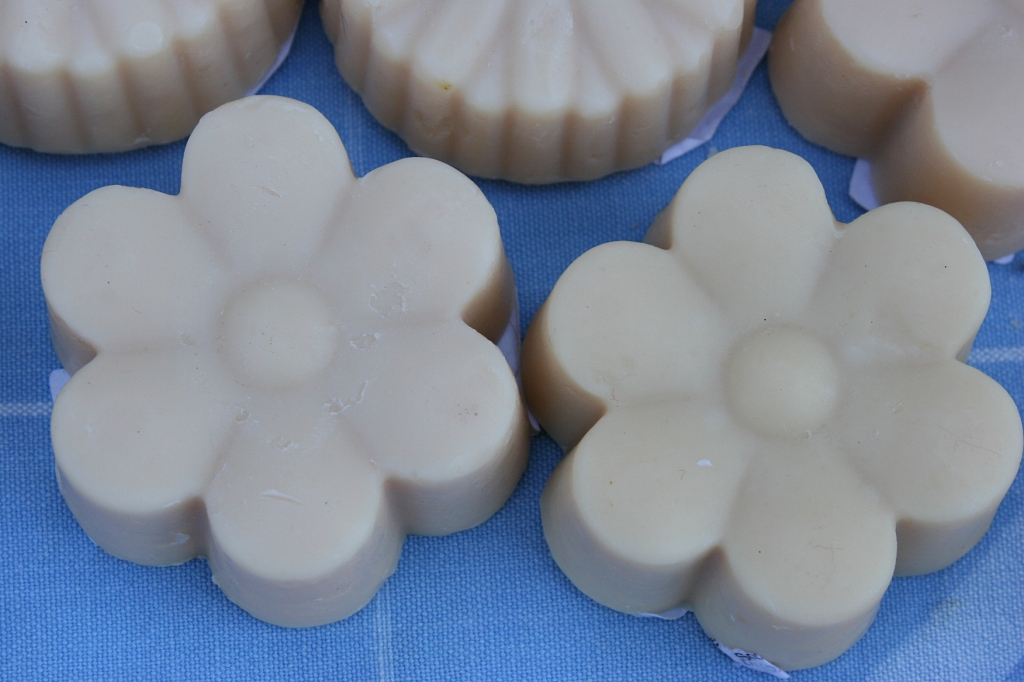 An example of the goat soap crafted at Whispering Creek Farm, rural Morristown.