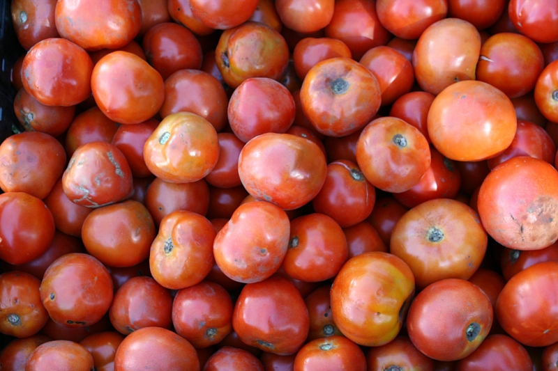 According to several vendors, the tomatoes were not that great this growing season. However, an abundance of them is available at the market.