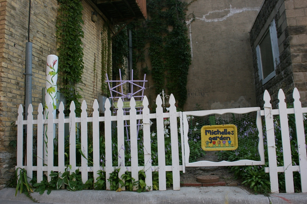 There's even a picket fence around a section of Michelle's Garden.